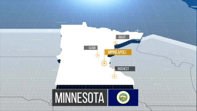 Minnesota  map