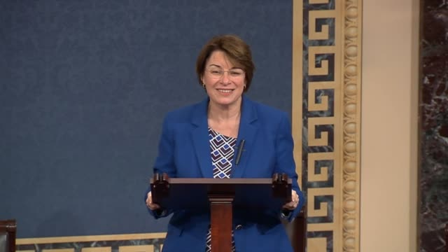 Minnesota Senator Amy Klobuchar delivers a tribute to native Minnesotan Prince a pop star found dead earlier that day at the age of 57 hours after...