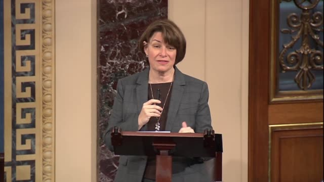 minnesota senator amy klobuchar says after a landmark sexual assault process bill applying to congress passed by unanimous consent that the bill... - minnesota stock videos & royalty-free footage