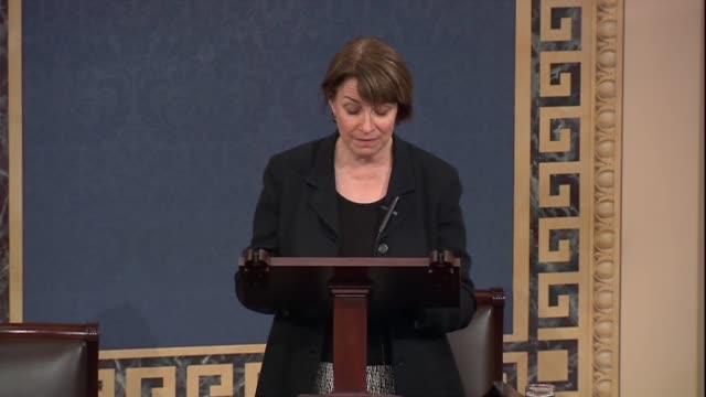 Minnesota Senator Amy Klobuchar says of a sexual harassment bill there were concerns that victims were not reporting incidents since 75 percent of...