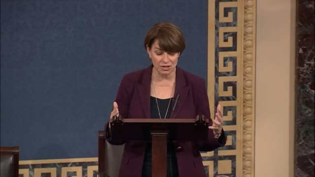 minnesota senator amy klobuchar says that when prices of top 10 bestselling drugs go up by 100% pharmaceutical companies get away with murder but... - prescription drug costs stock videos & royalty-free footage
