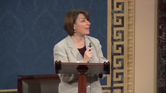 minnesota senator amy klobuchar says the first step act would not automatically reduce any prison sentence but simply allow people to petition courts... - sentencing stock videos & royalty-free footage