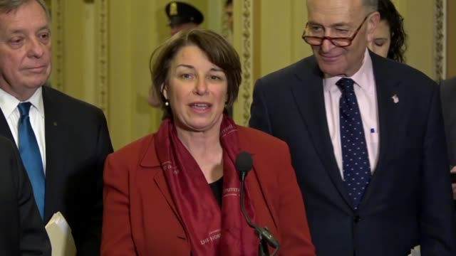 Minnesota Senator Amy Klobuchar tells reporters at a weekly briefing that she had been working with a bipartisan working group on immigration reform...