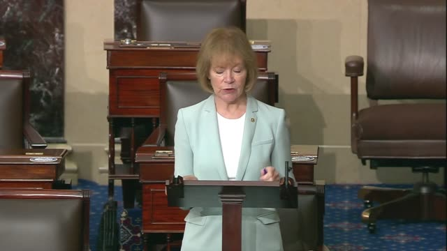 minnesota senator tina smith says in senate floor remarks on criminal justice reform and racial equality after the death of george floyd in... - federal prison building stock videos & royalty-free footage