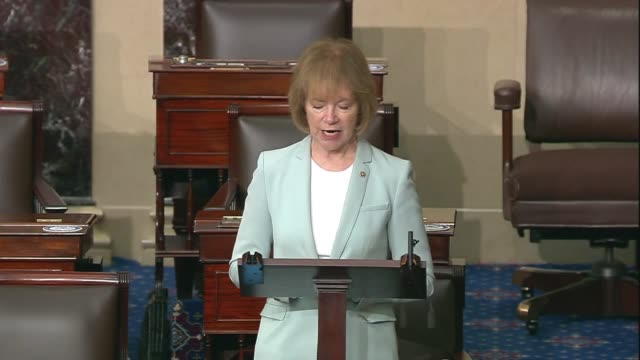 minnesota senator tina smith says in senate floor remarks on criminal justice reform and racial equality after the death of george floyd in... - sentencing stock videos & royalty-free footage