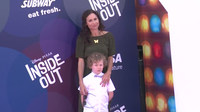 minnie driver at disneypixar's inside out los angeles premiere at the el capitan theatre on june 08 2015 in hollywood california - minnie driver stock videos and b-roll footage