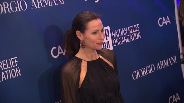 minnie driver at sean penn friends help haiti home a gala to benefit j/p haitian relief organization presented by giorgio armani on 1/12/13 in los... - minnie driver stock videos and b-roll footage