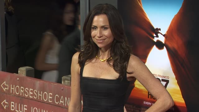 stockvideo's en b-roll-footage met minnie driver at the '127 hours' premiere at beverly hills ca - minnie driver
