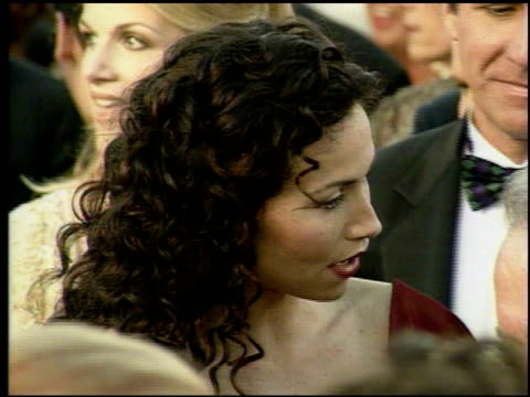 minnie driver at the 1998 academy awards arrivals at the shrine auditorium in los angeles california on march 23 1998 - minnie driver stock videos and b-roll footage