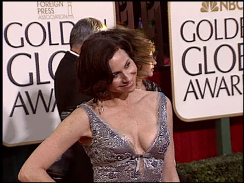 minnie driver at the 2005 golden globe awards at the beverly hilton in beverly hills california on january 16 2005 - minnie driver stock videos and b-roll footage