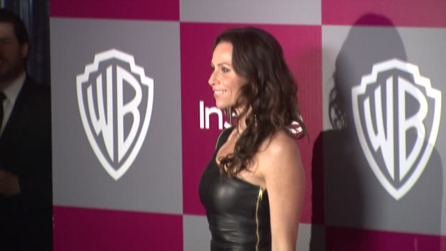 minnie driver at the 2011 instyle/warner brothers golden globe awards party at beverly hills ca - minnie driver stock videos and b-roll footage