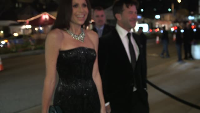 minnie driver at the 2014 vanity fair oscar party hosted by graydon carter arrivals on march 02 2014 in west hollywood california - minnie driver stock videos and b-roll footage