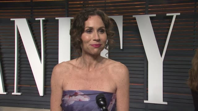 minnie driver at the 2015 vanity fair oscar party hosted by graydon carter at the wallis annenberg center for the performing arts on february 22,... - oscar party stock videos & royalty-free footage