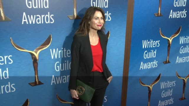 minnie driver at the 2018 writers guild awards at the beverly hilton hotel on february 11 2018 in beverly hills california - minnie driver stock videos and b-roll footage