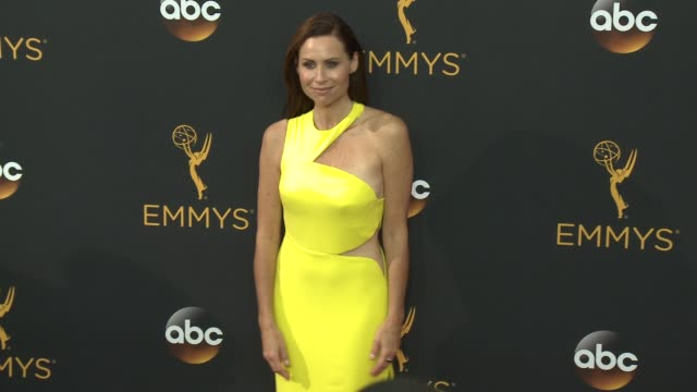 minnie driver at the 68th annual primetime emmy awards arrivals at microsoft theater on september 18 2016 in los angeles california - minnie driver stock videos and b-roll footage