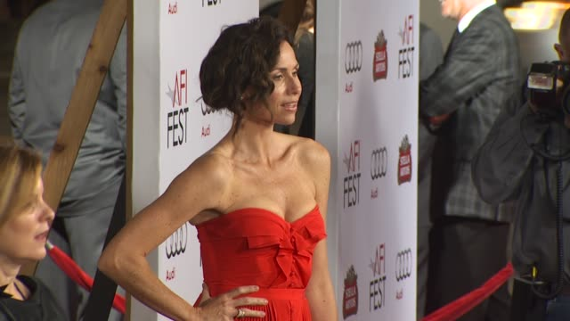 stockvideo's en b-roll-footage met minnie driver at the afi fest 2010 screening of 'barney's version' at hollywood ca - minnie driver