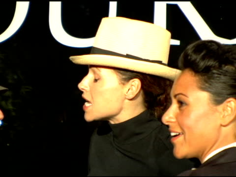 minnie driver at the an evening with tony duran arrivals at interior illusions in hollywood california on october 12 2006 - minnie driver stock videos and b-roll footage
