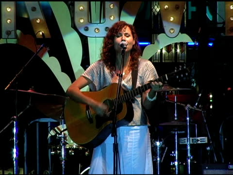 minnie driver at the concert of minnie driver and american idol's john stevens at the grove in los angeles california on august 3 2005 - minnie driver stock videos and b-roll footage