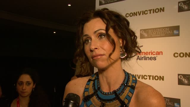 54th bfi london film festival at london england - minnie driver stock videos and b-roll footage