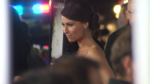 stockvideo's en b-roll-footage met minnie driver at the 'conviction' premiere at beverly hills ca - minnie driver