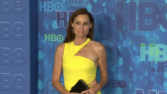 minnie driver at the hbo's post emmy awards reception arrivals at the plaza at the pacific design center on september 18 2016 in los angeles... - minnie driver stock videos and b-roll footage