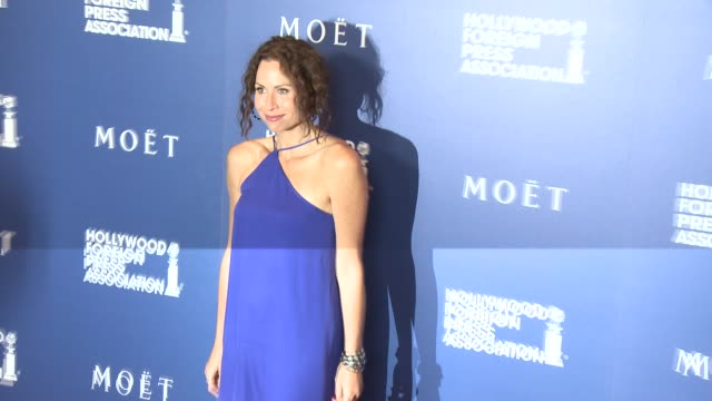 minnie driver at the hollywood foreign press association's grants banquet at the beverly hilton hotel on august 14 2014 in beverly hills california - minnie driver stock videos and b-roll footage