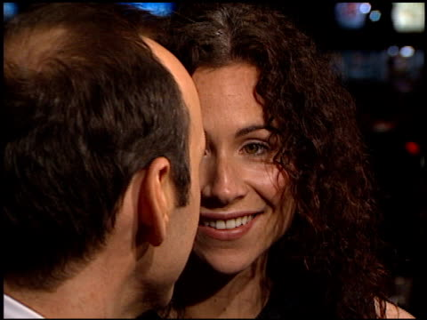 minnie driver at the 'hurlyburly' premiere at cineplex odeon showcase on december 21 1998 - minnie driver stock videos and b-roll footage