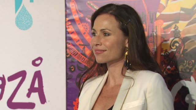 minnie driver at the kooza opening night gala to benefit the one drop foundation heal the bay at santa monica ca - minnie driver stock videos and b-roll footage