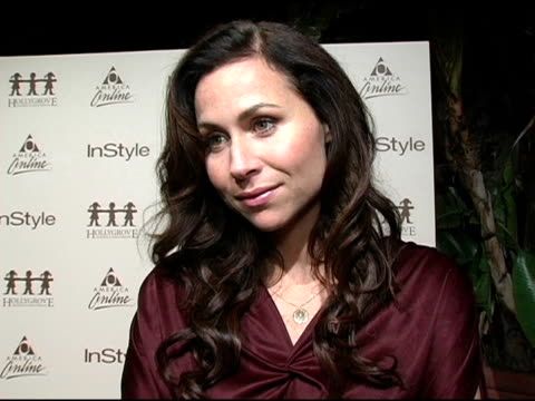 minnie driver at the launch party benefitting hollygrove hosted by instyle and america online at mortons in west hollywood california on november 16... - minnie driver stock videos and b-roll footage