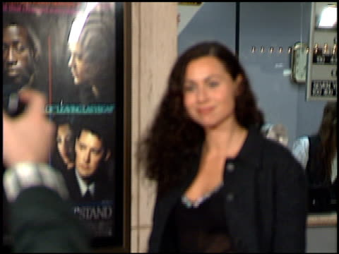 minnie driver at the 'one night stand' premiere on november 12 1997 - minnie driver stock videos and b-roll footage