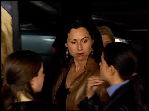 minnie driver at the showtime at grauman's chinese theatre in hollywood california on march 11 2002 - minnie driver stock videos and b-roll footage
