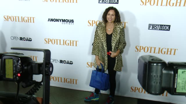 minnie driver at the spotlight los angeles premiere at directors guild theatre on november 03 2015 in west hollywood california - minnie driver stock videos and b-roll footage