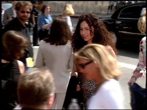 minnie driver at the 'tarzan' premiere at the el capitan theatre in hollywood california on june 12 1999 - minnie driver stock videos and b-roll footage