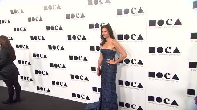 minnie driver at the the museum of contemporary art los angeles presents the annual moca gala at los angeles ca - minnie driver stock videos and b-roll footage