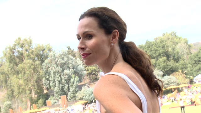 minnie driver at the third annual veuve clicquot polo classic - los angeles at will rogers state historic park on 10/6/12 in los angeles, california - 出来事の発生点の映像素材/bロール