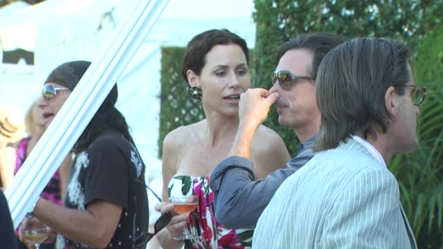 minnie driver at the worldrenowned veuve clicquot polo classic at pacific palisades ca - minnie driver stock videos and b-roll footage