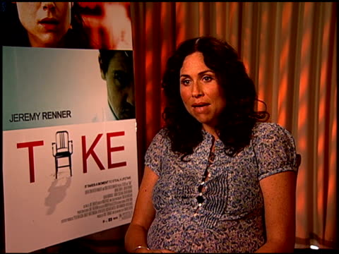 minnie driver on her character in the film at the 'take' press junket at los angeles california - minnie driver stock videos and b-roll footage