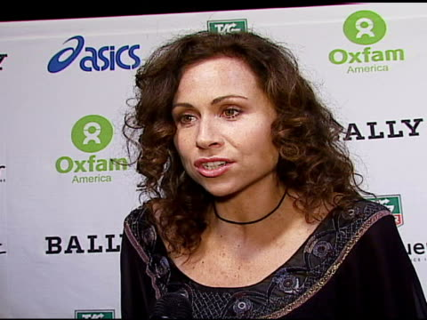 minnie driver on her involvement and support for oxfam on how and why she got involved on traveling to different countries on their behalf at the... - minnie driver stock videos and b-roll footage