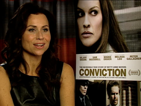 minnie driver on how dna testing is reviewing mistakes in law at the conviction interviews at london england - minnie driver stock videos and b-roll footage