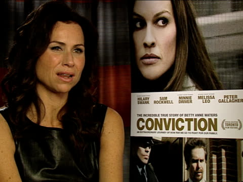 minnie driver on how extraordinary the story is at the conviction interviews at london england - minnie driver stock videos and b-roll footage