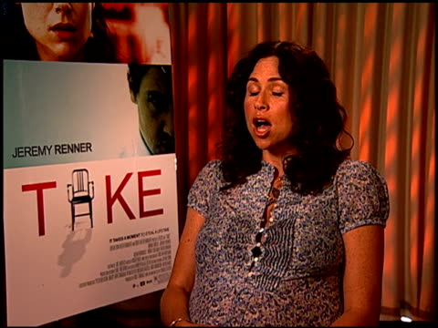minnie driver on the labor and delivery stories she hears from strangers at the 'take' press junket at los angeles california - minnie driver stock videos and b-roll footage
