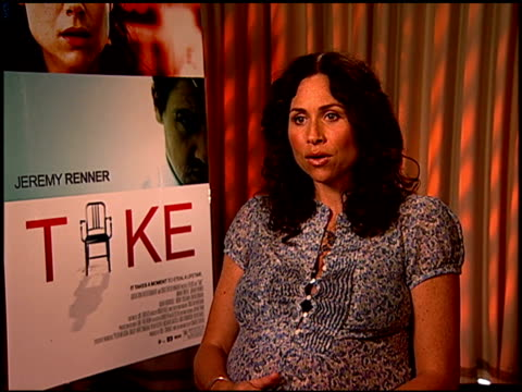 minnie driver on the thought provoking nature of the film at the 'take' press junket at los angeles california - minnie driver stock videos and b-roll footage