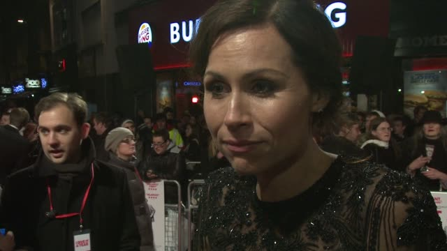 stockvideo's en b-roll-footage met interview minnie driver on the tone of the film and on the film being 'prolove' at 'i give it a year' european premiere in london england uk on... - kleurtoon