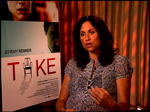 minnie driver on the various themes in the film at the 'take' press junket at los angeles california - minnie driver stock videos and b-roll footage