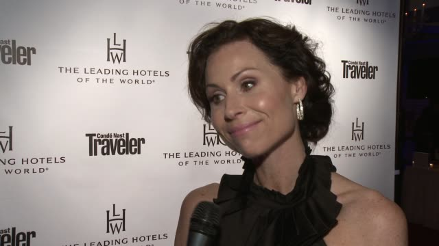 interview minnie driver on travel her favorite destination and upcoming work at condŽ nast traveler celebrates the leading hotels of the world 85th... - minnie driver stock videos and b-roll footage