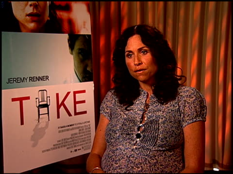 minnie driver on what she wants the audience to know about the film at the 'take' press junket at los angeles california - minnie driver stock videos and b-roll footage