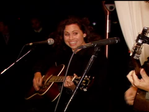 minnie driver performs at the oxfam annual fundraiser at esquire house 360 in beverly hills california on november 29 2006 - minnie driver stock videos and b-roll footage