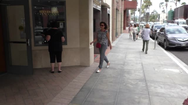 minnie driver shopping in beverly hills in celebrity sightings in los angeles - minnie driver stock videos and b-roll footage