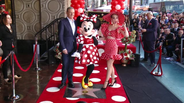 clean minnie mouse receives her star on the hollywood walk of fame in celebration of her 90th anniversary january 22 2018 in los angeles ca - walk of fame stock videos & royalty-free footage