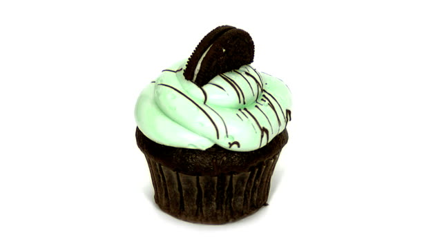 mint cupcake - cupcake stock videos & royalty-free footage